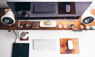 home office, laptop, desk,