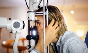 eye test, optomotrist