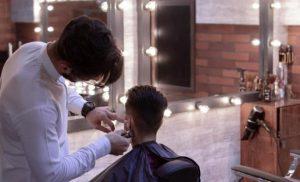 Barber, men being groomed