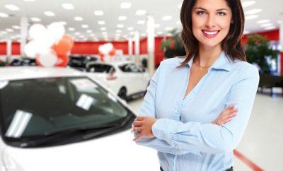 woman next to a car