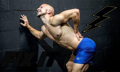 man displaying back pain