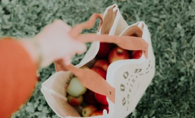 A bag with fresh produce