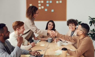 Group in a business meeting