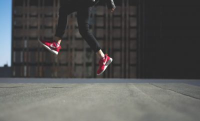ladies red sneakers