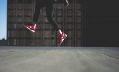 ladies red sneakers