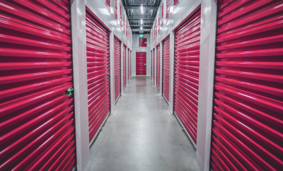 storage with pink doors