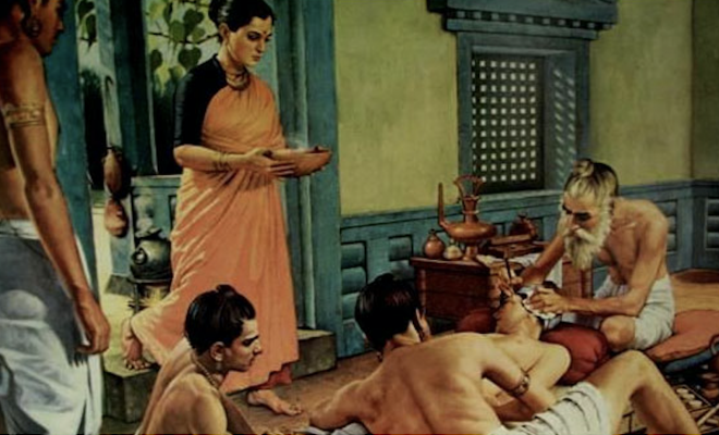 depiction of Sushruta surgery