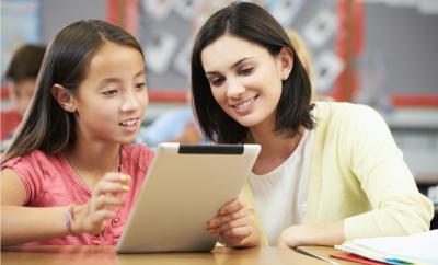 child being tutored, student, teacher,