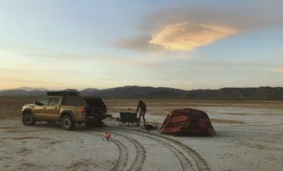camping, tent, sandy beach