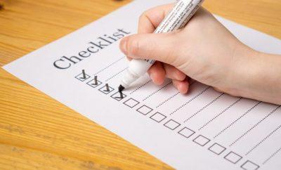 ticking checklist off