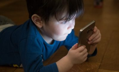 child on a smartphone