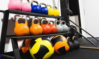 Kettle bells, medicine balls, weights