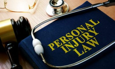 Law book on personal injury