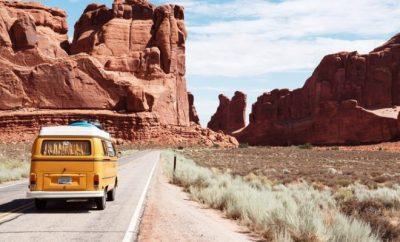 van on a road trip, travel