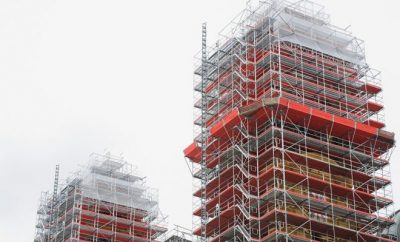 scaffolding, building, construction