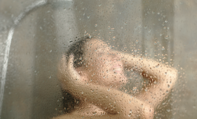 woman having a shower, water,