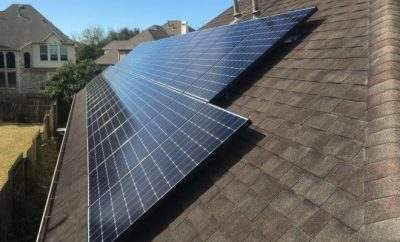 solar panelson a house roof