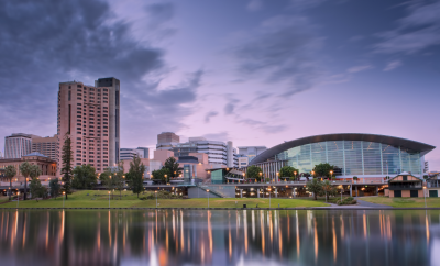 City view of Adelaide, Skyscrapers, City,