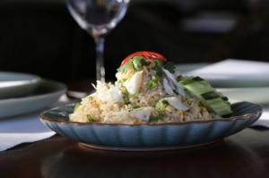 Chedi Thai rice plate