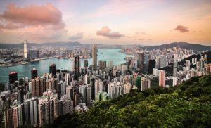 Honk Kong city and buildings