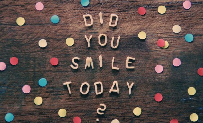 Board with a question -Did you smile today