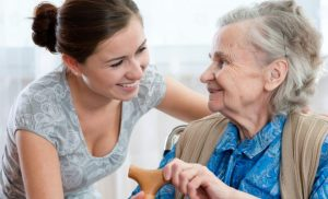 care giver with an elderly lady