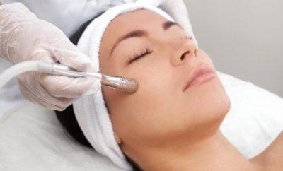 Woman having a facial
