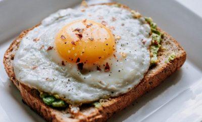 Egg on toast sunny side up