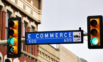 Street sign with eCommerce