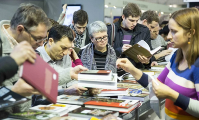 People at a book sale