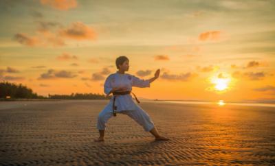 martial art, Man doing martial art,