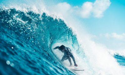 Man surfing, beach