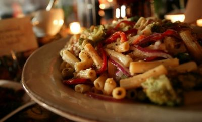 A plate of pasta , Dining, Restaurant